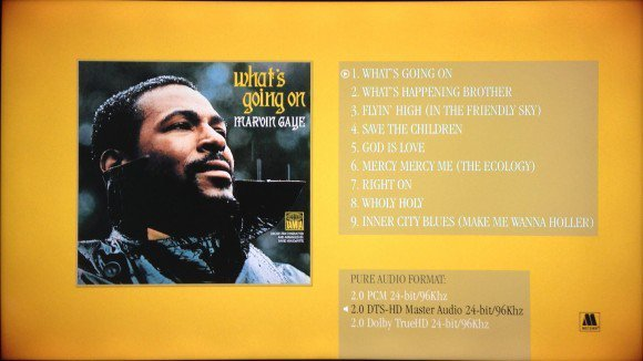Marvin Gaye What's Going On Menu